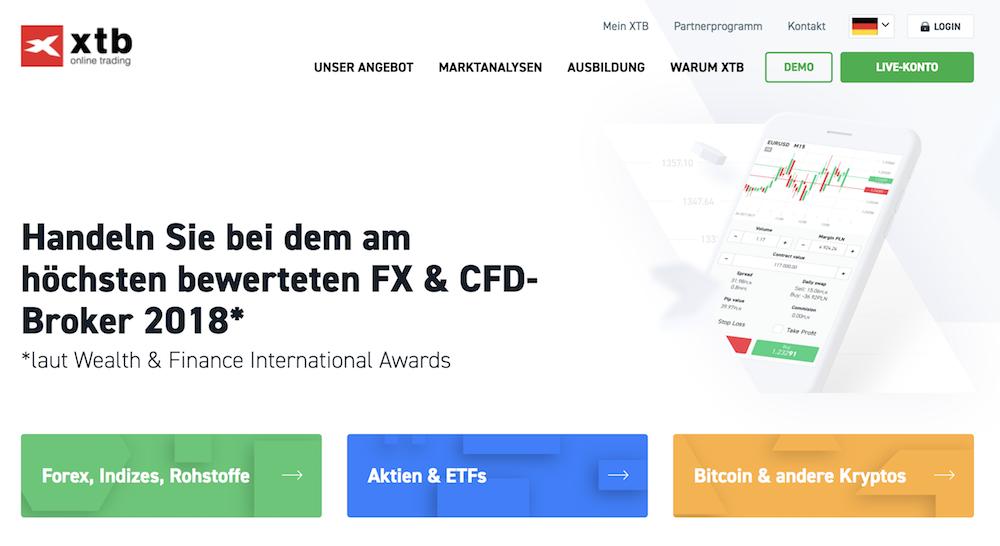 XTB Testsieger Forex CFD