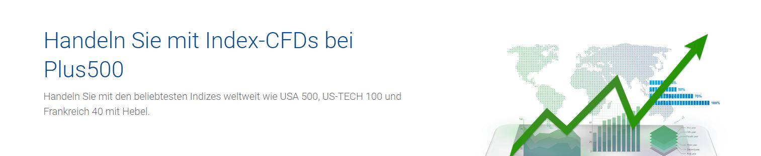 Handeln Sie mit Index-CFDs bei Plus500