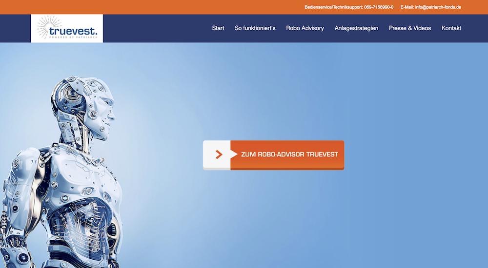 truevest Homepage