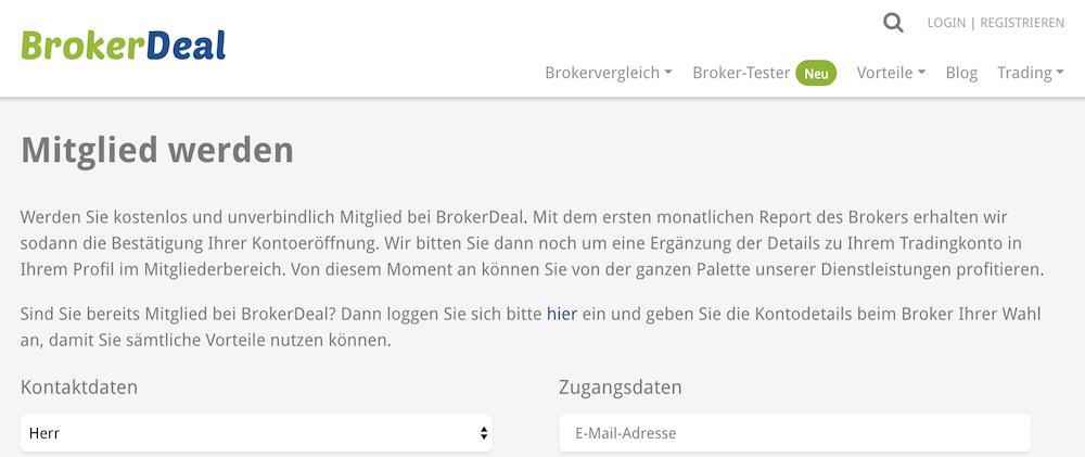 BrokerDeal Mitgliedschaft
