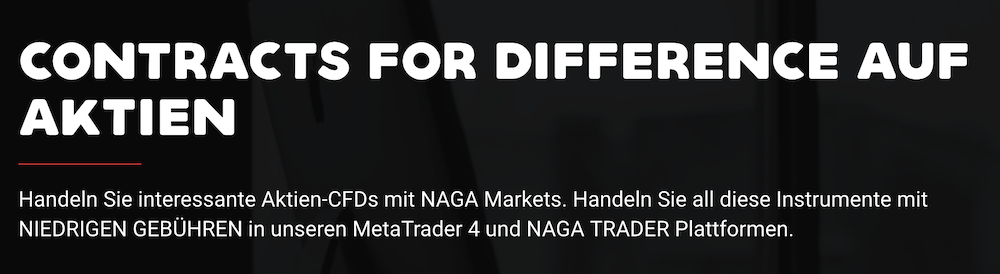 Naga Markets CFDs auf Aktien
