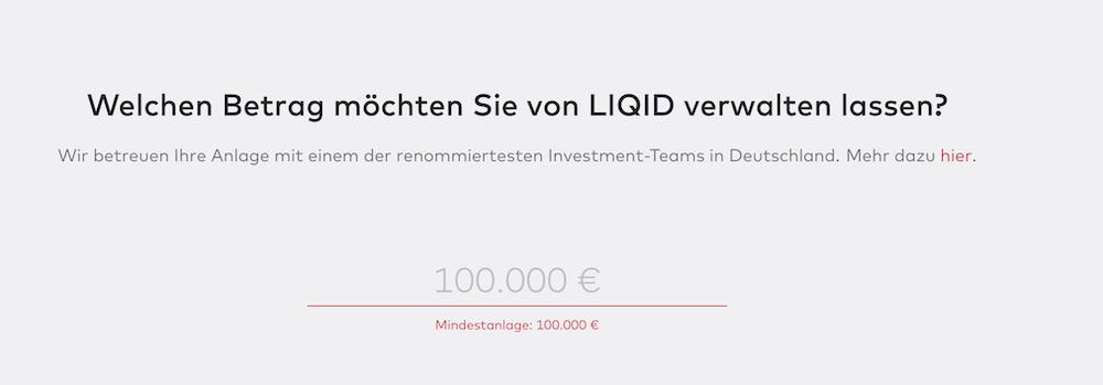 LIQID Kontoeröffnung