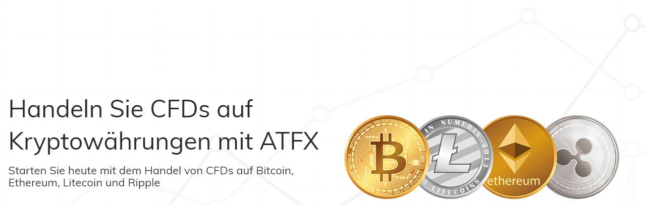 Bei ATFX können Sie CFDs auf Kryptowährungen handeln
