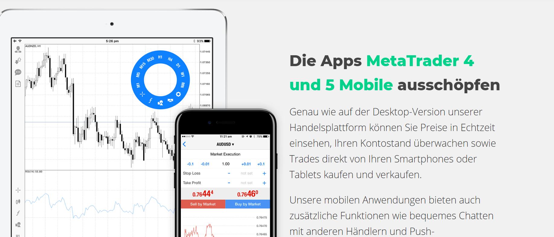 Nutzen Sie die MT4 & 5 Apps mit Eightcap