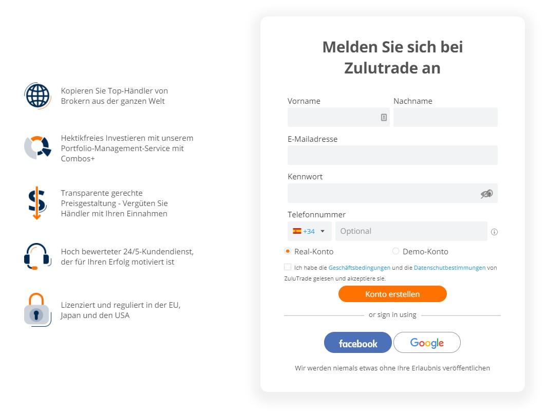 ZuluTrade-Kontoeröffnung-Live-Demo