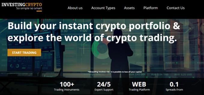 InvestingCrypto Homepage
