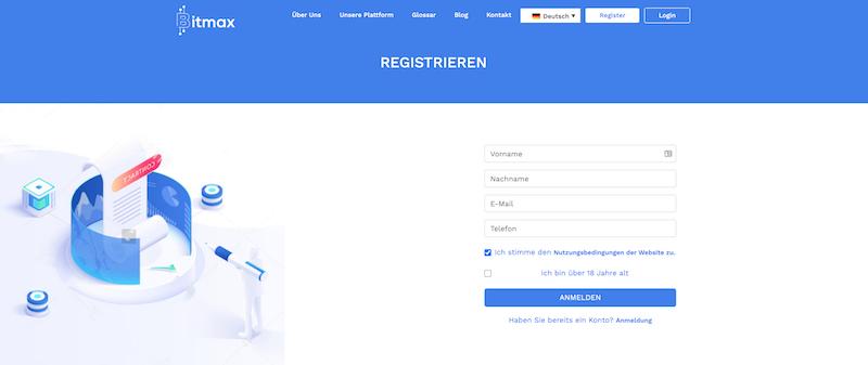 Das Registrierungsformular